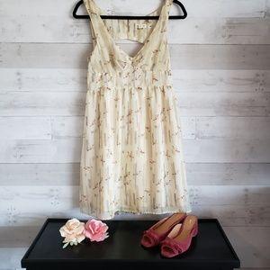 Crane print dress Anthropologie